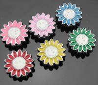 Wholesale mm mix color Smile flower Slide Charms wear charms DIY Accessories
