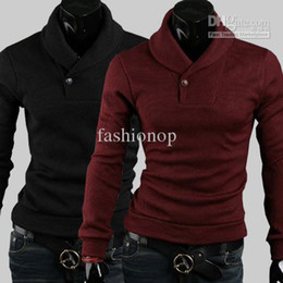 Wholesale 2012 New Fashion Korean Slim Pure Color Pullover Cardigan Long Sleeve Cotton Blended Sweater NTFW