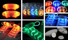 Wholesale LED flashing shoelace Light up shoelaces shoe laces Laser shoelaces Colorful fashion led shoelace