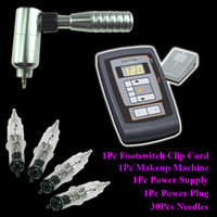 Wholesale Silver Permanent Makeup Tattoo Rotary Machine Tattoo Power Supply Needles