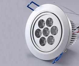 led 7-LEDS 90~265V 7W 700LM Ceiling Light warm white Cool White light led downlight lamp