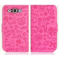 Wholesale 2012 new mobile phone leather case for samsung I9300 for Galaxy S3 by China product