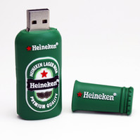 Wholesale Retail genuine G G G G G Heineken Memory Stick USB Flash Drive Pen Drive