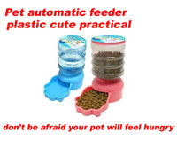 Plastic automatic dog water dispenser - Practical Pet Dog Cat Automatic Water Dispenser Food Dish Bowl Feeder capacity KG