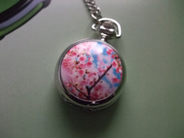 Wholesale 2012 Hot oriental cherry silver mini Pocket Watch Antique wp193