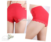 Regular Lace Valentine's Day Sexy Women's Panty 12Pcs Lot Cotton Lace Edge Thong Underwear High Waist Girl's Underpants YST8042