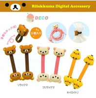 Wholesale 20packs pack Cute bear Earphone Winder Cable Cord Wire holder Management Organizer