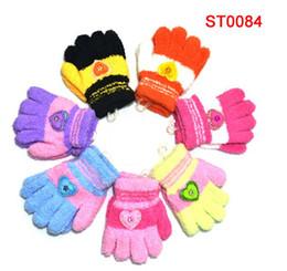 Wholesale Children Baby boys girls Gloves Mitten Children s Warm keeping Glove love cute picture