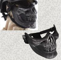 EMS liberan esquelética militar táctica del esqueleto del cráneo de Airsoft Paintball mitad de la cara Proteger la máscara