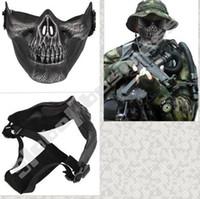 Compra Proteger a paintball-NUEVA esquelética militar táctica del esqueleto del cráneo de Airsoft Paintball mitad de la cara Proteger la máscara
