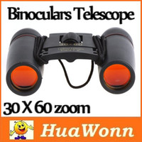 Wholesale High quality X60 Zoom Mini Binoculars Telescope Folding Day Night Vision with Carry Bag