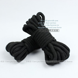 Wholesale Sex product Cotton rope bound bondage BDSM game black rope m m sex toys