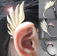 Wholesale Hot Selling Women Charm Rock Punk Feather wing Earring Ear Cuff