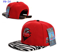 Wholesale RED Pink Dolphin Snapbacks Hats With Zebra visor Hip Hop Adjustable Snapbacks Hat Cap Mix Order