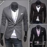 Wholesale New arrival men s Jacket Slim Suit Jacket casual Jacket Coat A single breasted men s Outerwear SJ07
