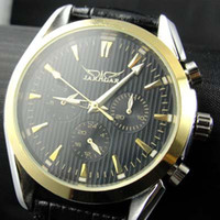 Sport replicas - new jaragar classic brand luxury men leather diver mechanical sport watches mens wristwatch replica