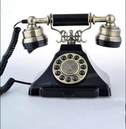 Wholesale metal pyramid antique phone retro phone Corded Telephone Classical antique telephone