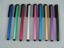 Free Shipping CAPACITIVE STYLUS TOUCH PEN for iphone 4 100 PCS   LOT (Black, Red, Pink,Blue,Light bl