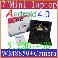 Wholesale 7 Inch Mini Notebook Laptop VIA A10 Android Flash GB MB WiFi camera MID BJB