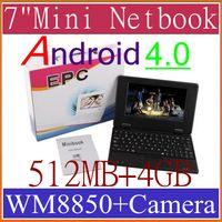 Wholesale 7 Inch Mini Notebook Laptop VIA8850 WM8850 VIA WM Android Flash GB MB WiFi camera BJB