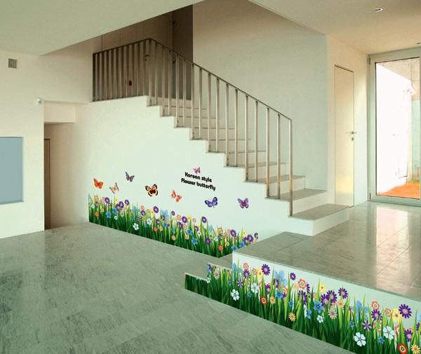 Funlife 170x50cm67x20inremovable Butterfly Flower Living Room Wall Border Sticker