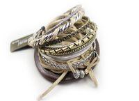 Wholesale Women vintage sumni bracelet layers alloy wooden leather lace wide bracelets multilayer bangle