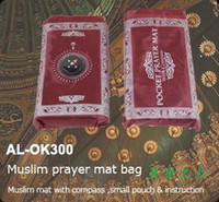 Wholesale Muslim prayer mat bag compass Makkah Prayer Rugs Quran DHL FREE