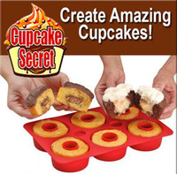 Wholesale 2012NEW Cupcake Secret Cupcake Maker Non Stick Silicone Baking Pan