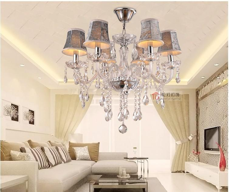 glass crystal chandelier continental morden lighting bedroom crystal