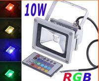 Wholesale FEDEX Free RGB W Waterproof Floodlight Landscape Lamp RGB LED Flood Light Outdoor LED Lamp AB1931