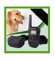 Wholesale Hot Sell Remote Control Dog Training Collar Bark Stop Pet Collar LV Shock Vibra Lcd Display m