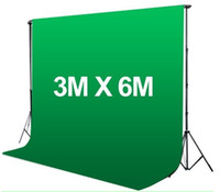 Wholesale ftX ft m x m Photo Studio TV Screen Muslin Backdrop Background Solid Green