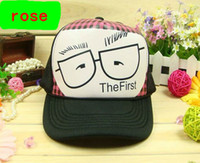 Wholesale The first glasses truck cap Leisure hat Mesh caps Snapbacks hats Sun hat color optional