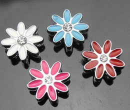 Wholesale mm flower Slide Charms Fit mm phone strips DIY Accessories