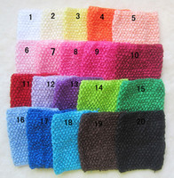 Wholesale 6 Inch Crochet Headhand Baby Headbands Toddlers Kids Children s Hair Accessories color