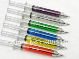 Wholesale OF001 Syringe pen COLORS Ball point pen promotion Gift pen White box packing Free Shipp