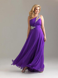 Wholesale Best Design Purple Plus Size Dresses For Women One shoulder Summer Evening Party Gowns Fashion