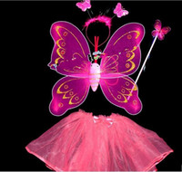 Wholesale BUTTERFLY FAIRY Wings Magic Wand Masquerade performance With a diamond single layer wings and skirt