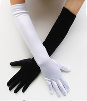 Wholesale U Pick LONG Length Stretch SATIN Black White Gloves Bridal Wedding Prom Opera