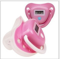 Wholesale LCD Digital Infant Temperature Nipple Baby Thermometer Pink EMS fast