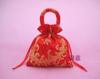 Wholesale Red chinese style Wedding party gift bags candy box candy bags Pouches