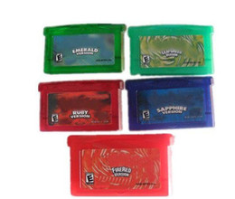 Wholesale by DHL Brand New poke GBA games emerald fire red ruby sapphire save file