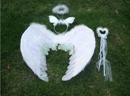 Wholesale Angel wings there piece Magic Wand wing headdress Masquerade performance Photography christmas gifts