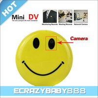 Wholesale Smile Face Digital Video Voice Recorder Car DVR Web Hidden Pinhole Spy Camera AVI DV MP3 with TV Out