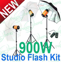 Bi-Tube strobe light kit - 900ws w Pro Photography lighting mini Studio Strobe Photo Flash Light kit
