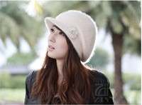 Wholesale NEW Rabbit hair Hat lady winter winter cap knitted cap BNMBMNN21