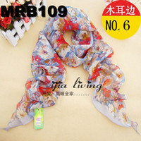 Fashion Scarf Scarves Chiffon New Arrival Flower Low Price 3...