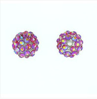 Wholesale HOT sale mm Ball Pave AB Resin Rhinestone Ball Beads mixed colors