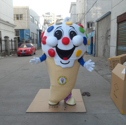 big icecream mascot costumes without logo custom made adult size free shipping