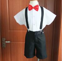 Wholesale 4pcs sets summer boys suits wedding dress child boy students costumes chorus fashion show clothes